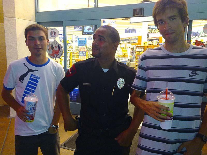Agente de Seguridad en el Strip de Las Vegas