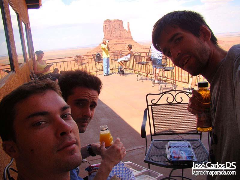 Almuerzo Monument Valley Utah