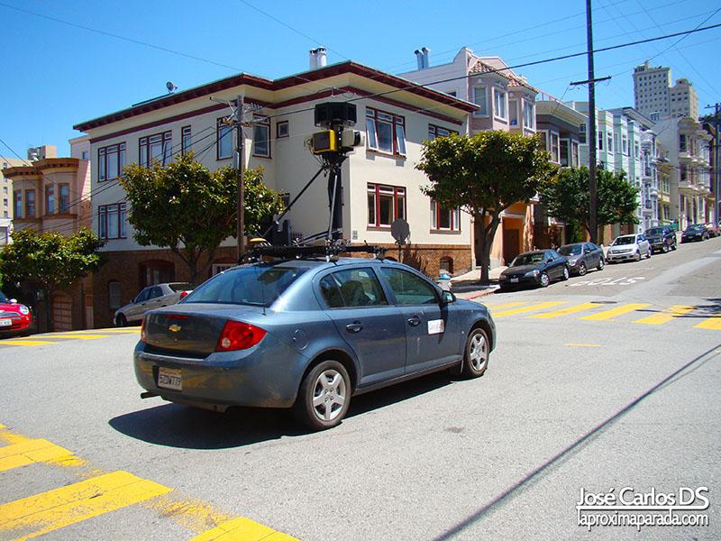 Coche de Google Street View en San Francisco