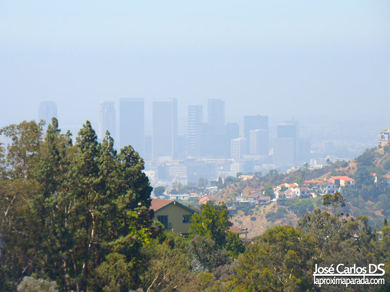 Downtown de Los Angeles desde Mulholland Dr.