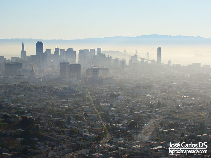 Downtown de San Francisco desde Twin Peaks