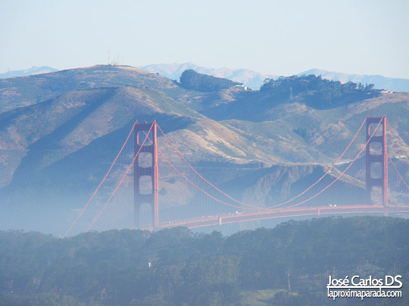 Golden Gate de San Francisco desde Twin Peaks