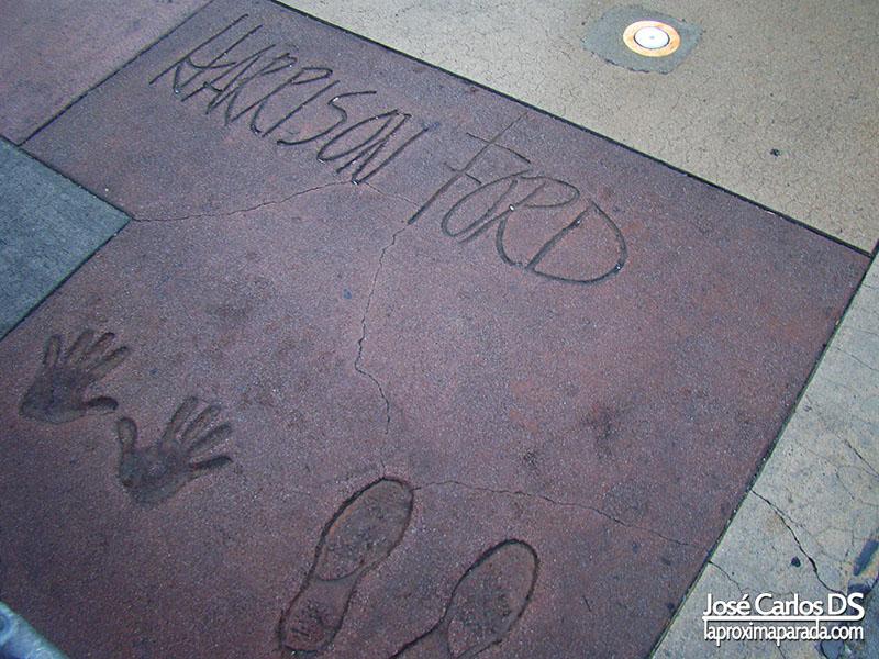 Huellas de Harrison Ford en Walk of Fame Los Angeles