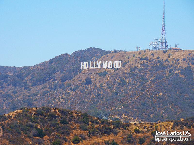 Letrero Hollywood desde Observatorio Griffith Los Angeles