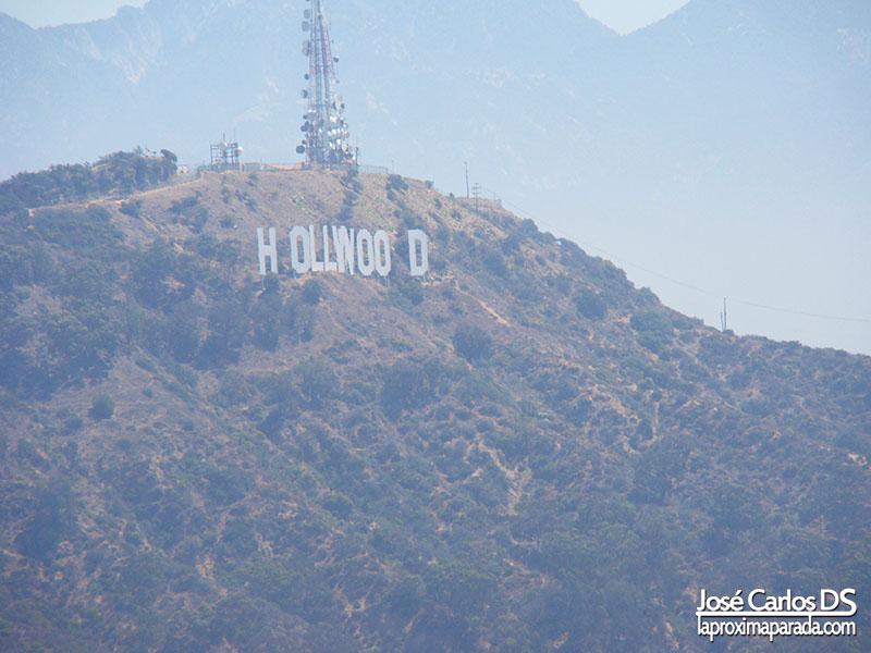 Letrero de Hollywood desde Mulholland Dr.