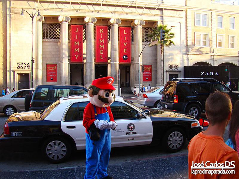 Fake Mario en Walk of Fame Los Angeles