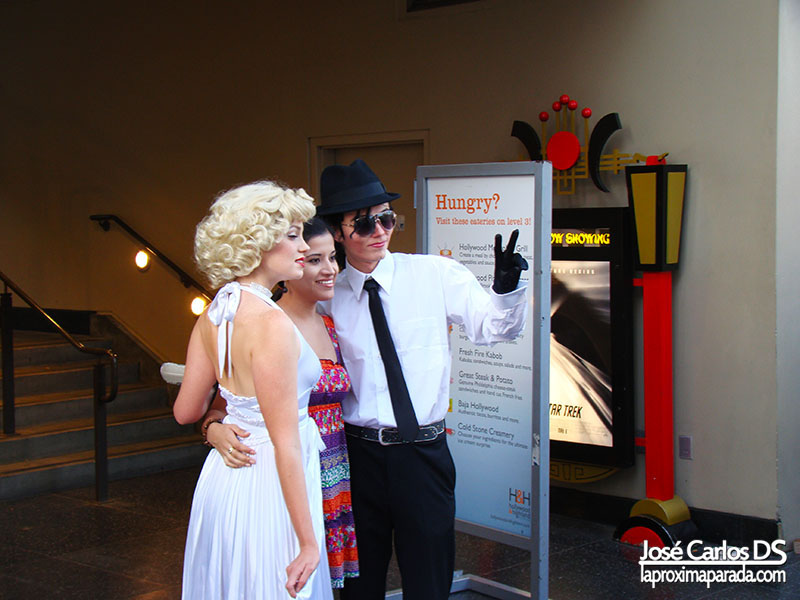 Michael Jackson & Marilyn Monroe en Walk of Fame Los Angeles