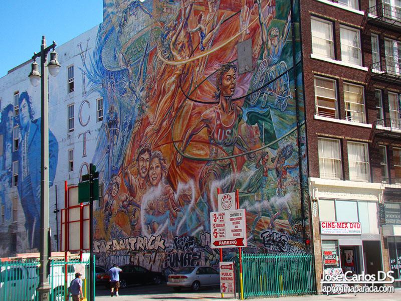 Mural Olimpiadas de Los Angeles 1976