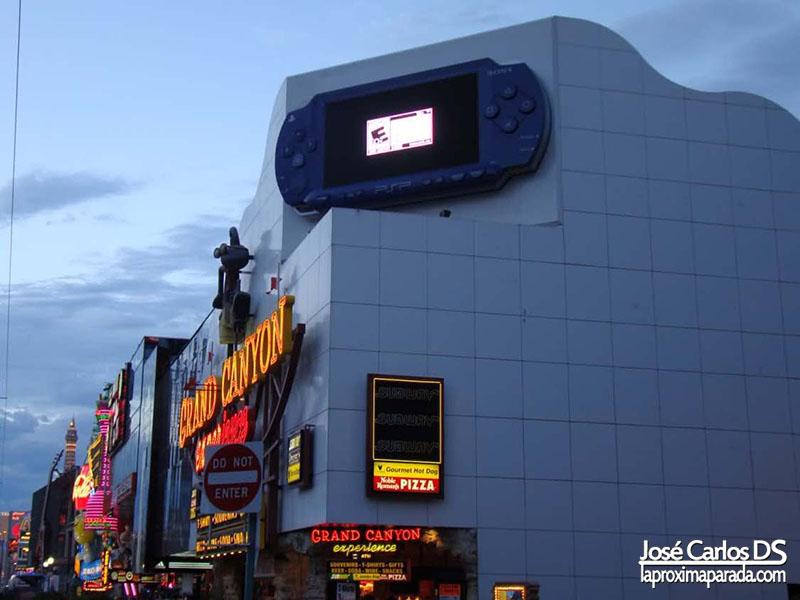 PSP Gigante en Strip de Las Vegas
