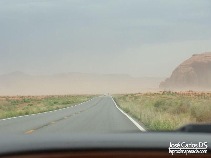 Tormenta de Arena rumbo a Page Arizona