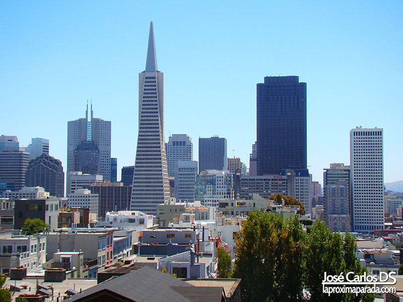 Transamerican desde Coit Tower San Francisco