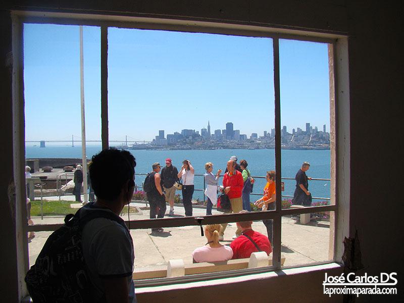 Vistas de San Francisco desde la Carcel de Alcatraz