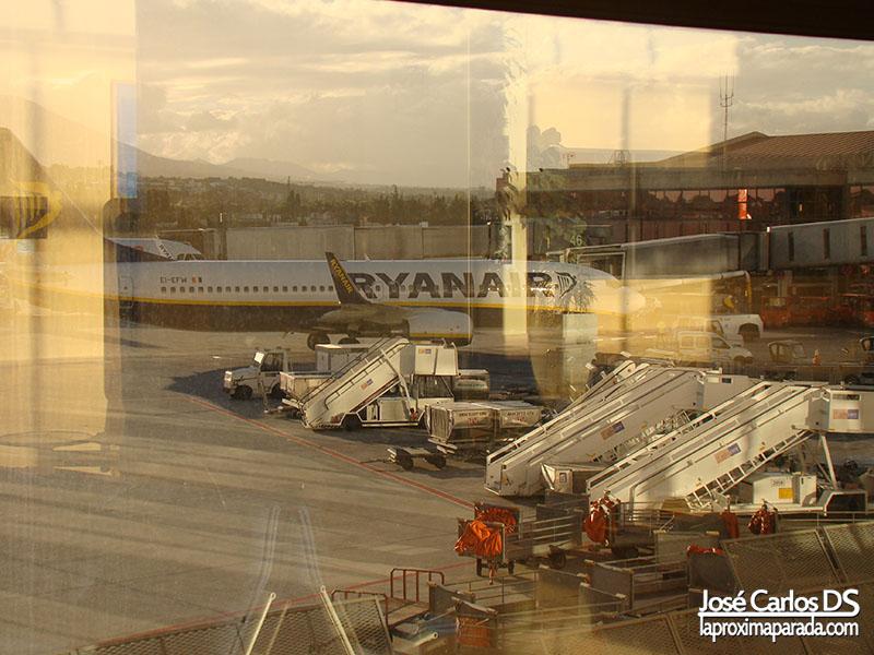 Avión Ryanair Aeropuerto de Málaga
