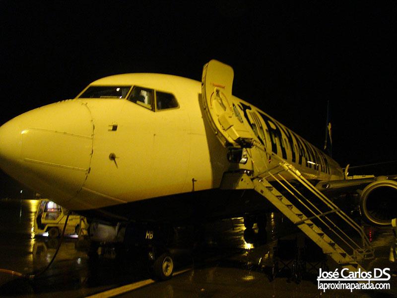 Avión Ryanair Aeropuerto de Stansted Londres