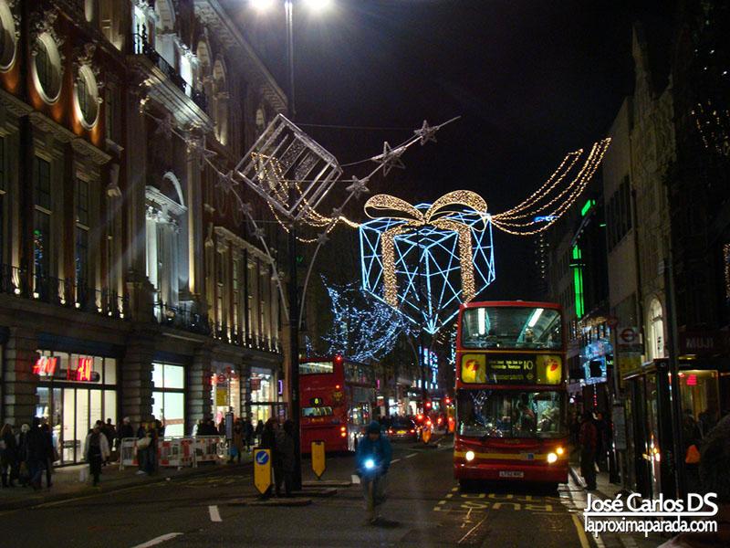 Decoración Navideña en Regent Street Londres