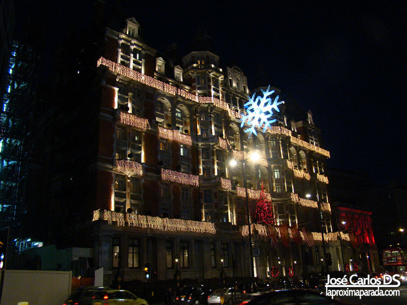 Edificio Navideño Brompton Road Londres