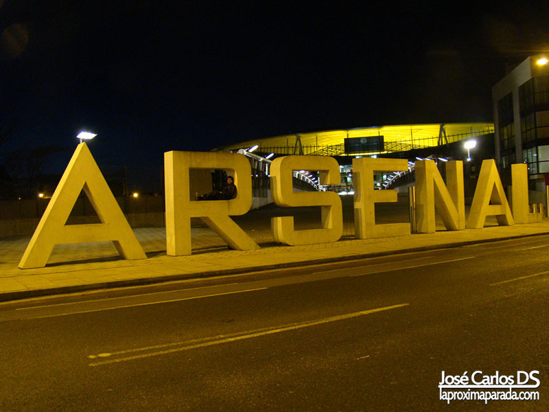 Letras Estadio Arsenal Emirates Stadium Londres