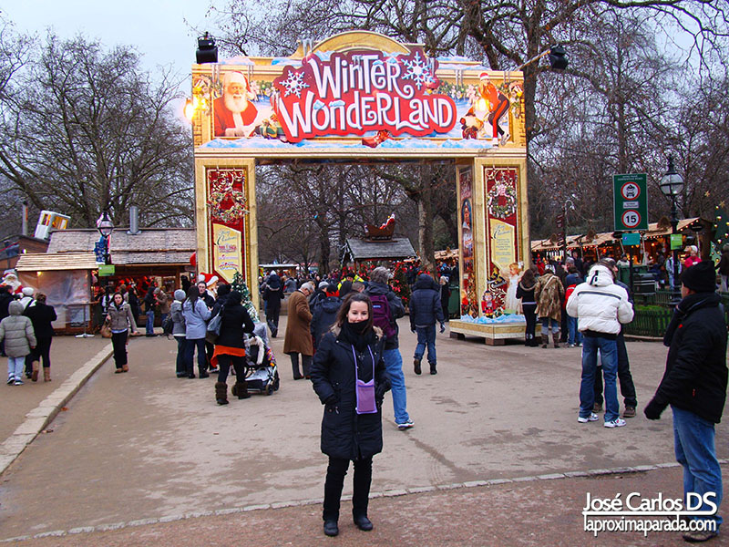 Mercado Navideño Londres Winter Wonderland Hyde Park