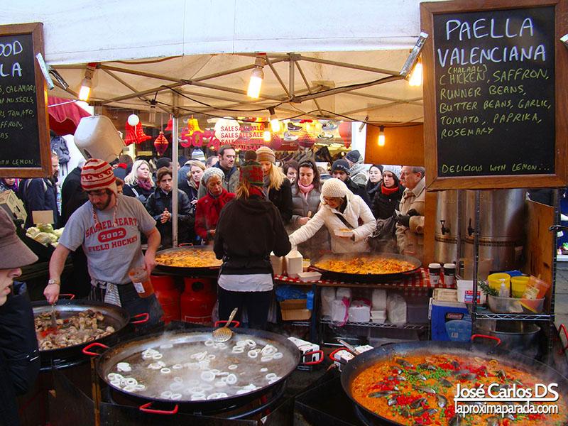 Paella Mercado de Portobello Londres