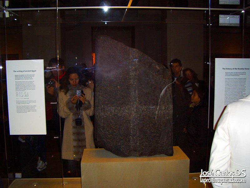 Piedra Rosetta Museo Británico British Museum Londres