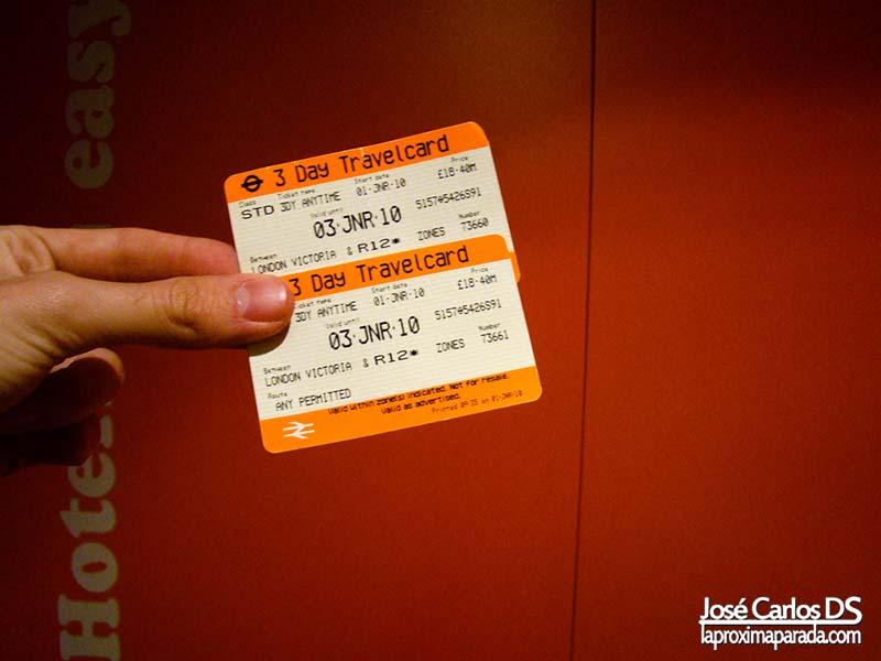 Tarjetas Travelcard Transporte Londres