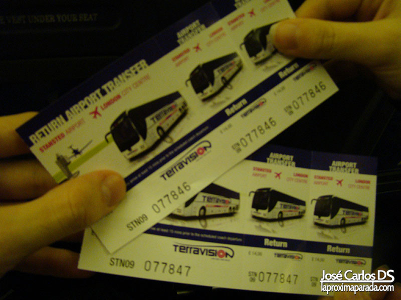 Tickets Terravision Stansted a Londres