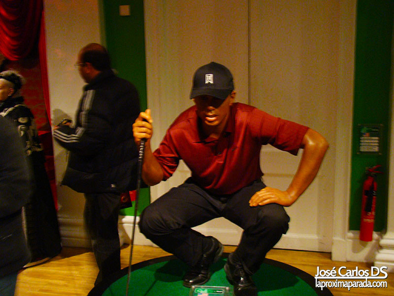Tiger Woods Madame Tussauds Londres