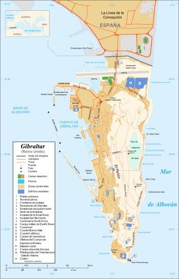 Mapa Termino Gibraltar