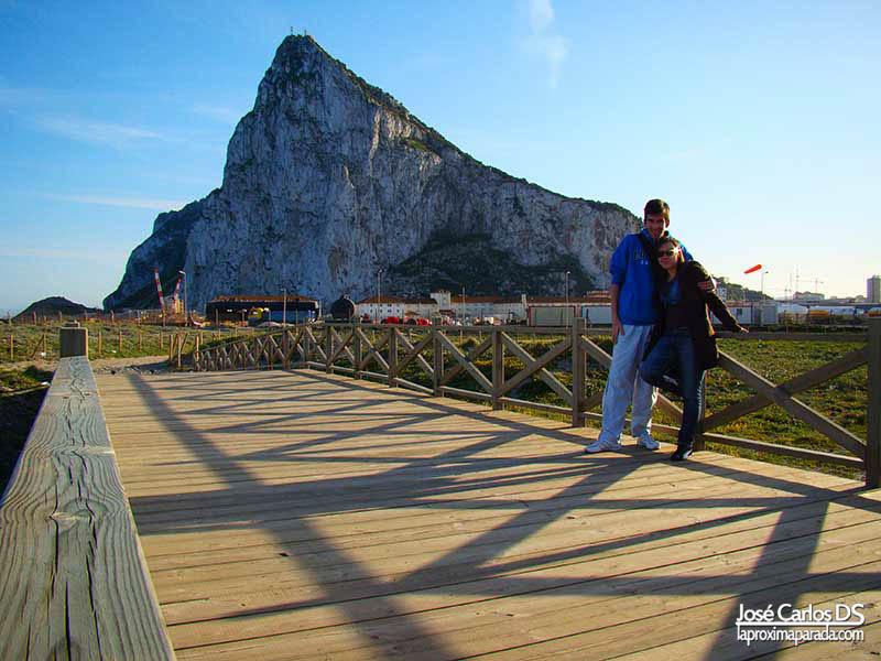 Peñón Gibraltar desde España