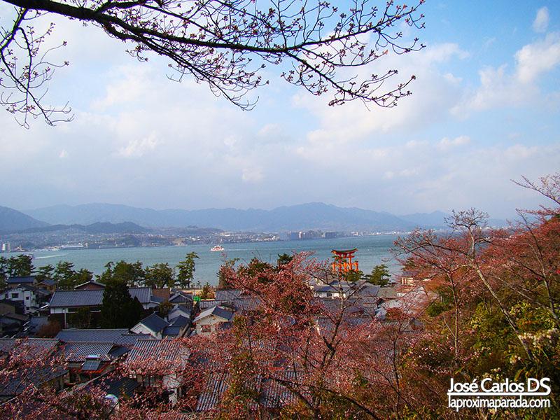 Vistas Hiroshima desde Miyajima