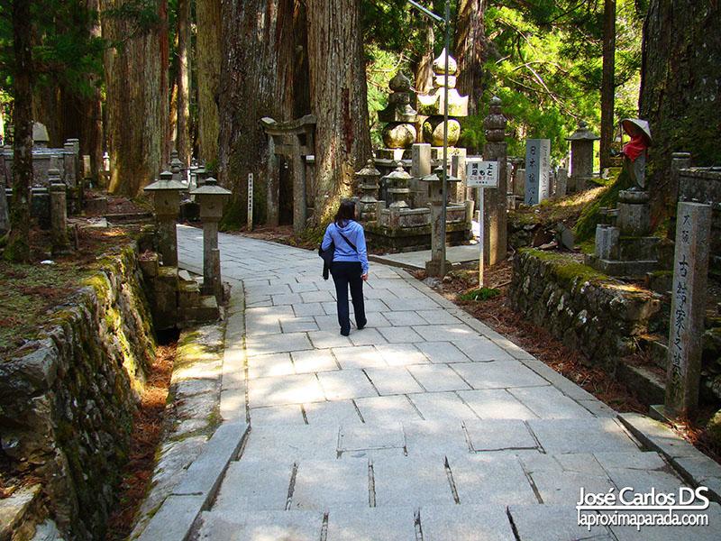 Soledad en Cementerio de Okunoin