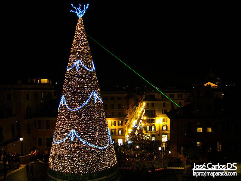 Árbol de Navidad Piazza di Spagna