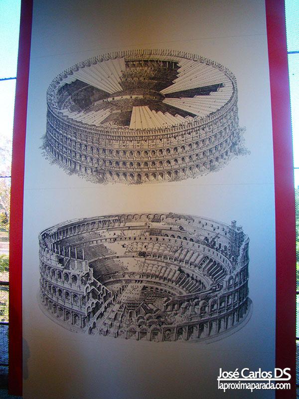 Antigua Cubierta Coliseo Romano