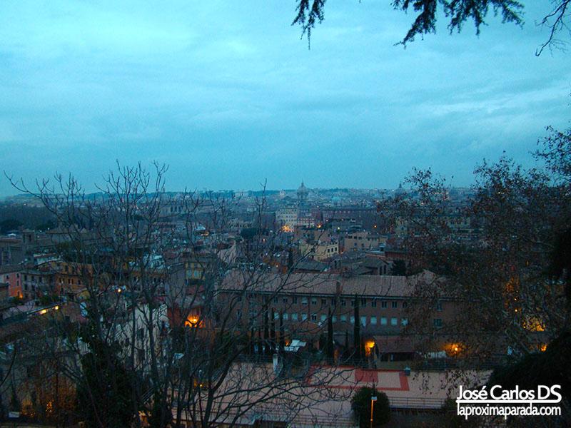 Barrio Trastevere desde el aire.
