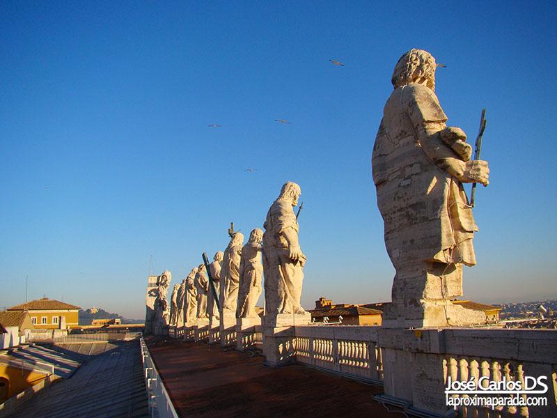 Estatuas Fachada del Vaticano