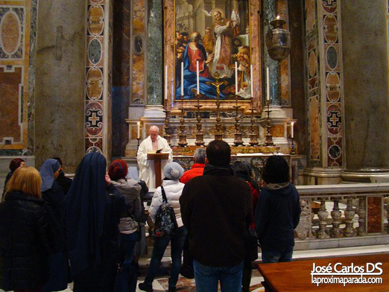 Misa en Basílica del Vaticano