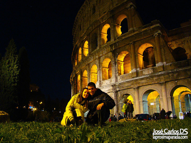 Noche Coliseo de Roma