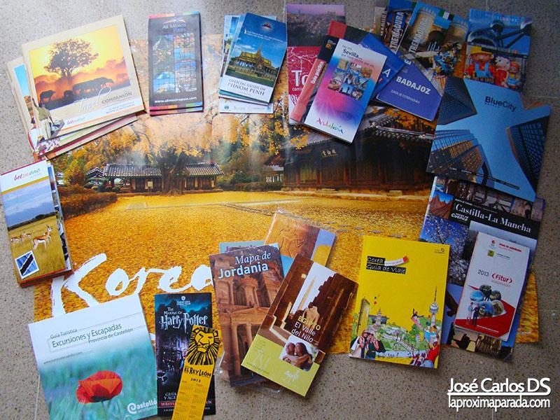 Publicidad y Panfletos de Fitur 2013