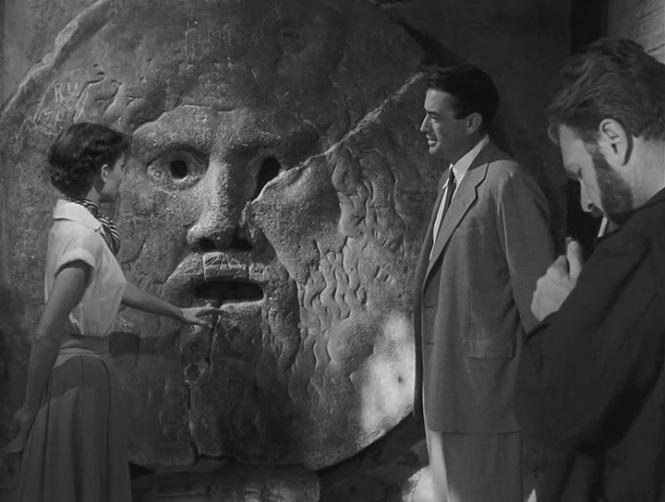 Vacaciones en Roma (1953) - Audrey Hepburn & Gregory Peck en Boca de la Verdad