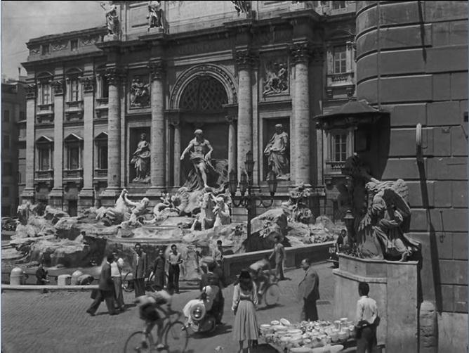 Vacaciones en Roma (1953) - Audrey Hepburn en Fontana de Trevi