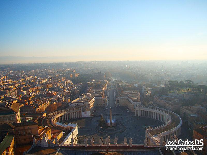 Vistas Plaza de San Pedro desde Cúpula del Vaticano