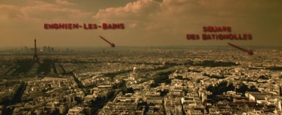 Panorámica de París en Amelie