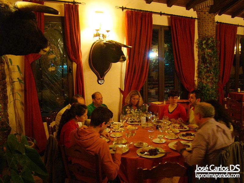 Cena en Las Mayoralas, Periana