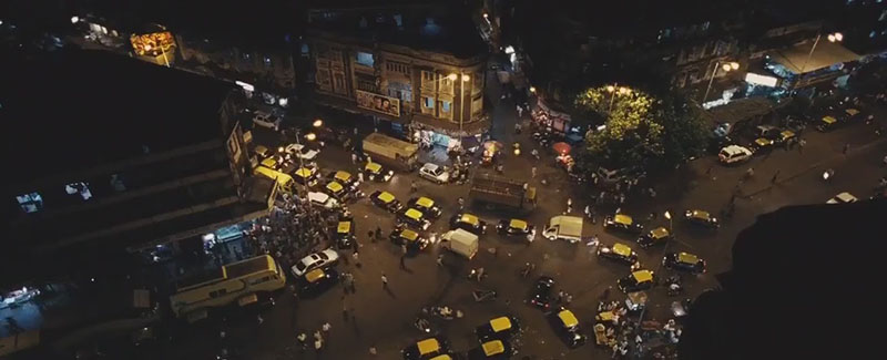 Tráfico en India - Slumdog Millionaire