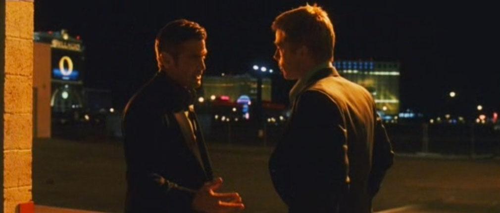 George Clooney & Brad Pitt en Ocean´s Eleven