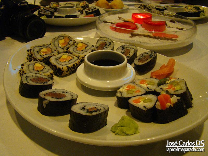 Surtido de Sushi en Holiday Hydros Benalmádena