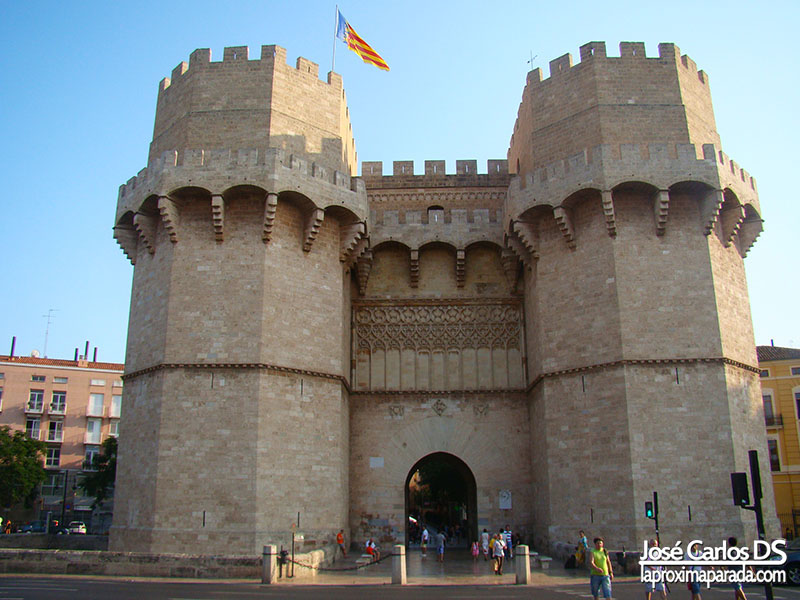 Torre de Serranos en Valencia