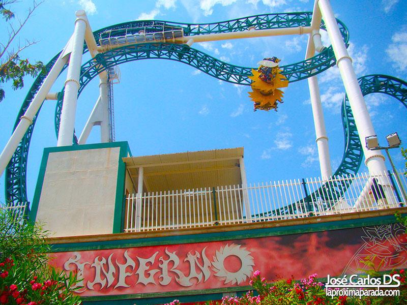 Inferno coaster 4D en Terra Mítica
