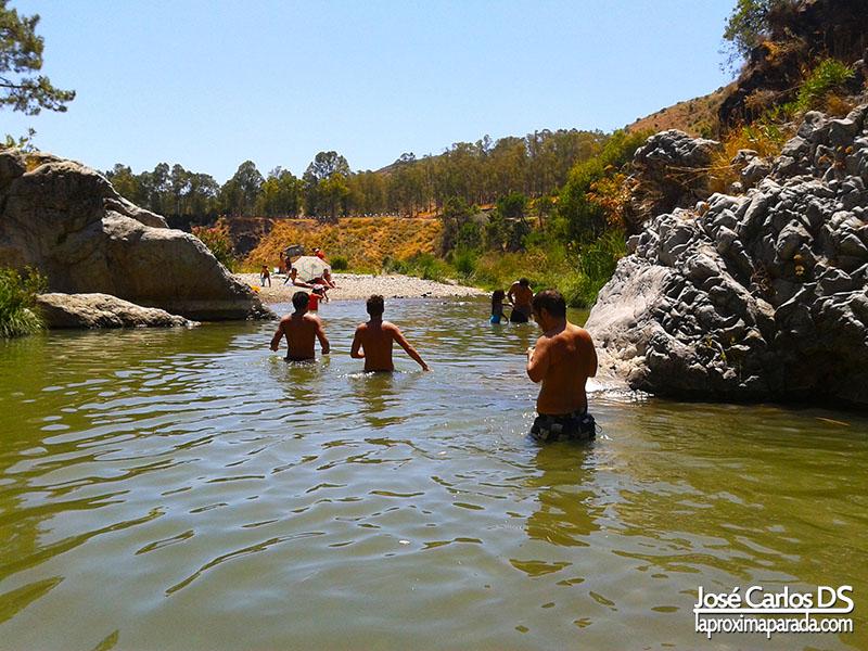 Playa Final Ruta Angosturas Río Guadalmina Benahavís