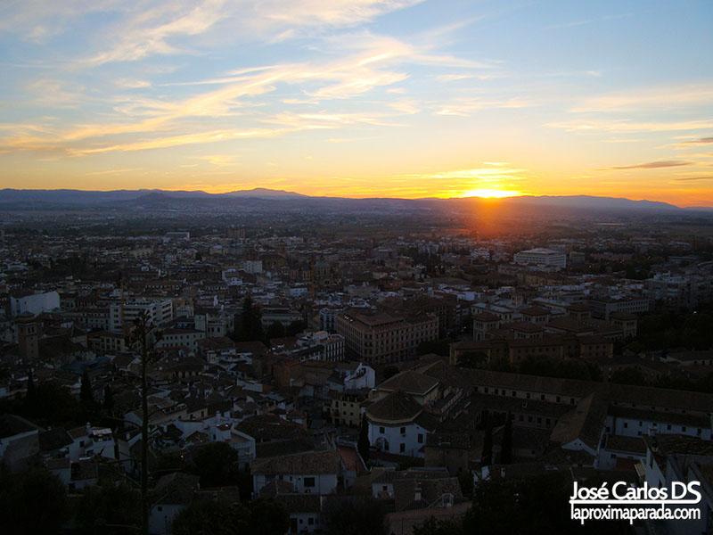 Anochecer en Granada
